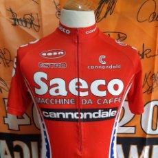 Coleccionismo deportivo: MAILLOT CICLISMO TEAM SAECO CANNONDALE. Lote 137203298