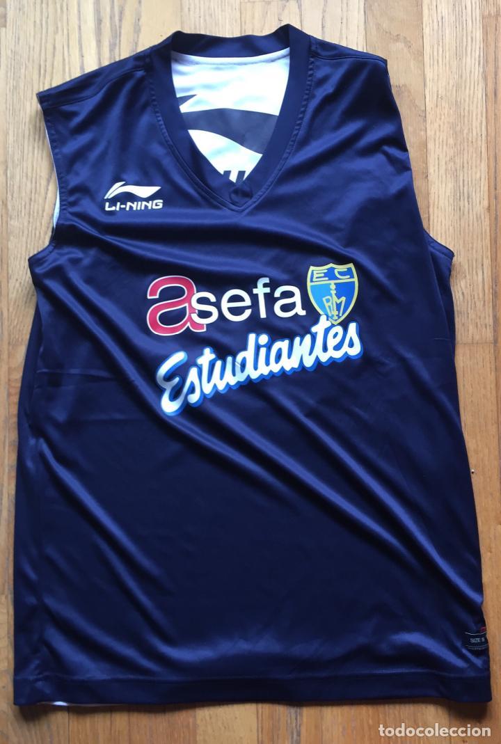 CAMISETA ASEFA ESTUDIANTES BALONCESTO LI-NING, REVERSIBLE (Coleccionismo Deportivo - Ropa y Complementos - Camisetas otros Deportes)
