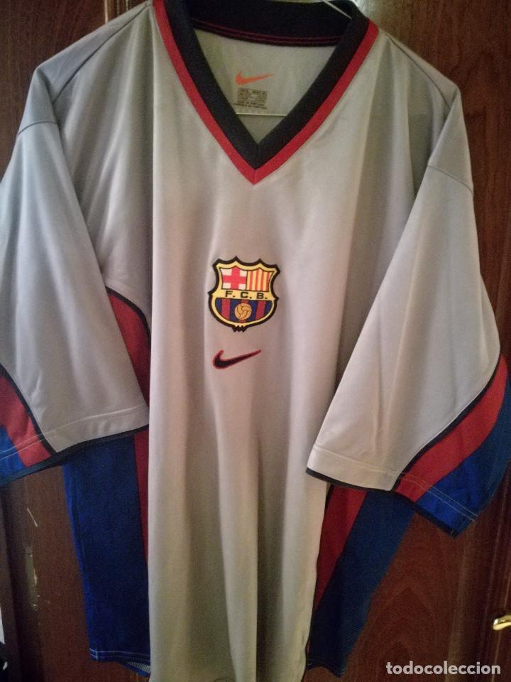 brand new 6574d 1bd64 FC BARCELONA MATCH WORN 1998 XL Camistea futbol football shirt