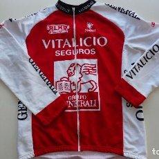 Coleccionismo deportivo: MAILLOT NALINI VITALICIO SEGUROS MANGA LARGA. Lote 143024282