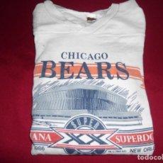 Coleccionismo deportivo: CAMISETA VINTAGE 100% ALGODÓN DE LOS CHICAGO BEARS RUGBY AMERICANO DE BUFFALO. N. Y.(U.S.A.)AÑOS 80. Lote 143738206