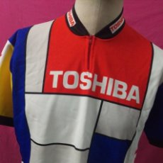 Coleccionismo deportivo: MAILLOT CICLISMO VINTAGE TOSHIBA TALLA XL. Lote 146908610