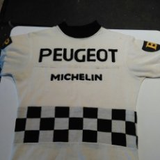 Coleccionismo deportivo: MAILLOT MICHELIN.PEUGEOT 1965 CICLISTA VINTAGE. Lote 153007736