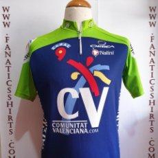 Coleccionismo deportivo: MAILLOT CICLISMO COMUNITAT VALENCIANA CANAL9 ORBEA NALINI . Lote 156713914