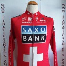 Coleccionismo deportivo: MAILLOT CICLISMO TEAM SAXO BANK ROJO SPORFUL SUNGARD SKODA. Lote 156714198