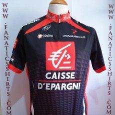 Coleccionismo deportivo: MAILLOT CICLISMO TEAM CAISSE D EPARGNE NALINI PINARELLO. Lote 156715234
