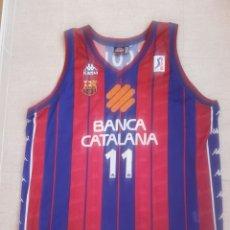 Coleccionismo deportivo: CAMISETA BALONCESTO FC BARCELONA BASKET MATCH WORN. Lote 156853540