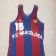 Coleccionismo deportivo: CAMISETA BALONCESTO FC BARCELONA BASKET MATCH WORN EPI. Lote 156854149