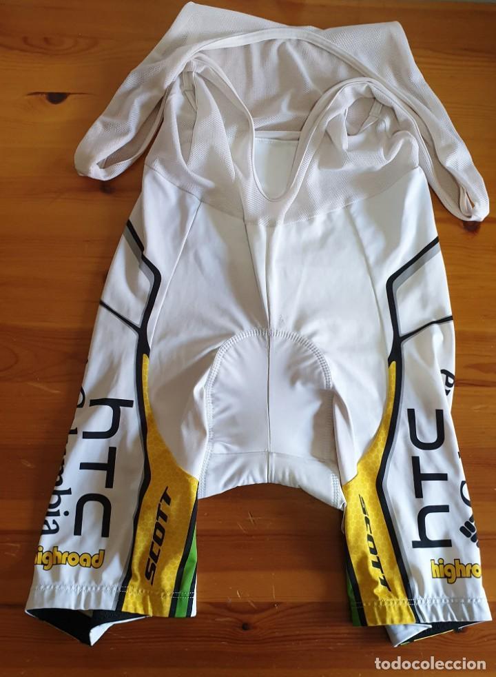 Coleccionismo deportivo: Conjunto Ciclismo Maillot + Culotte TEAM HTC Columbia Moa Scott Highroad - Foto 3 - 159744662