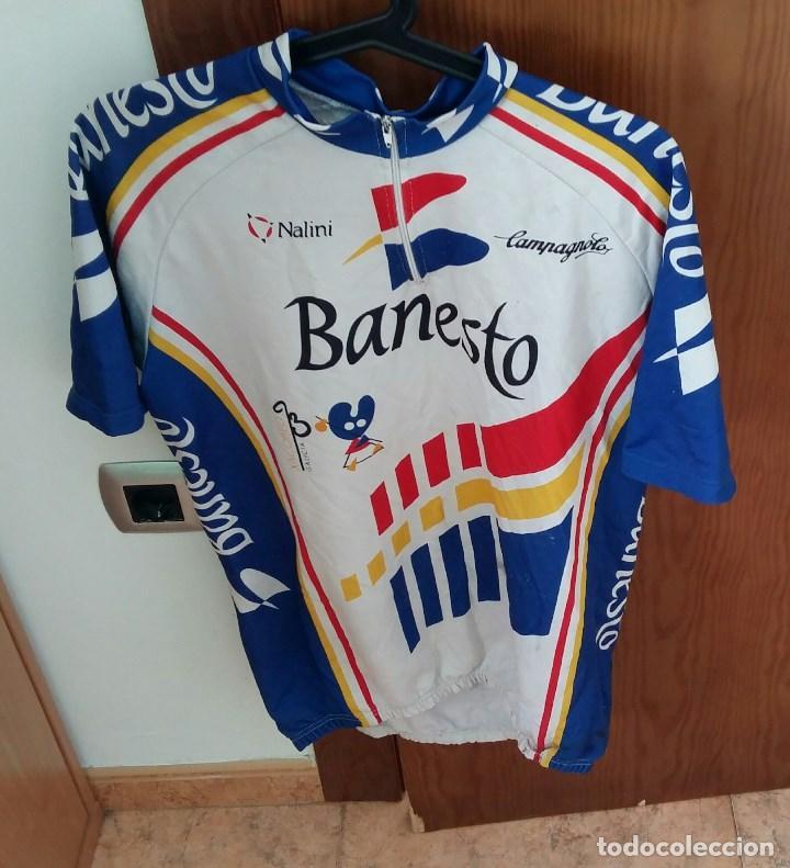ANTIGUO MAIOT DEL BANESTO XACOBEO CICLISMO (Coleccionismo Deportivo - Ropa y Complementos - Camisetas otros Deportes)