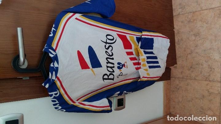 Coleccionismo deportivo: Antiguo maiot del Banesto Xacobeo ciclismo - Foto 2 - 159780842