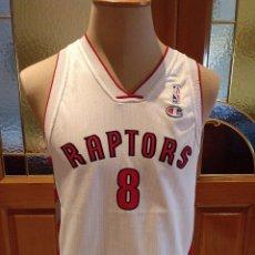 Coleccionismo deportivo: CAMISETA BALONCESTO NBA TORONTO RAPTORS. CALDERON.DORSAL 8.MARCA CHAMPION.TALLA 13-14. USADA.. Lote 162482558