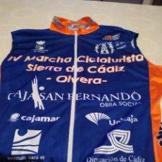 Coleccionismo deportivo: C-011820 MAILLOT DE CICLISTA CICLISMO TALLA MEDIANA MARCHA CICLOTURISTA SIERRA DE CADIZ OLVERA VER. Lote 169764716