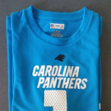 Coleccionismo deportivo: CAMISETA RUGBY FUTBOL AMERICANO CAROLINA PANTHERS NEWTON TEAM APPAREL NFL. Lote 172594159