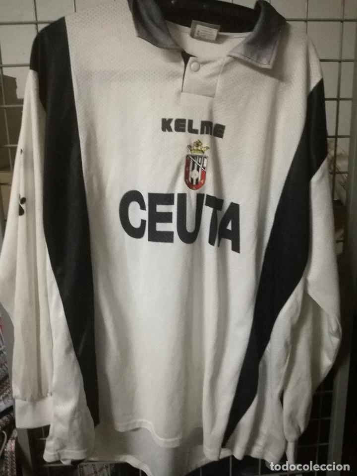 AD CEUTA XL MATCH WORN TRIKOT CAMISETA FUTBOL FOOTBALL SHIRT (Coleccionismo Deportivo - Ropa y Complementos - Camisetas otros Deportes)
