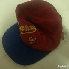 Coleccionismo deportivo: FC BARCELONA MEYBA GORRA CAP SCARF BUFANDA BANDERA FLAG FUTBOL FOOTBALL. Lote 218073738