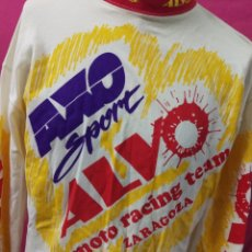Coleccionismo deportivo: CAMISETA MOTOCICLISMO VINTAGE AXO SPORT ALVO MOTO RACING ZARAGOZA. TALLA XL. Lote 179392537