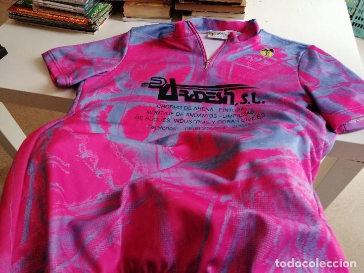 G-48 CAMISETA MAILLOT DE CICLISTA EISSEIEL TALLA 7 XXL VER FOTOS ROSA (Coleccionismo Deportivo - Ropa y Complementos - Camisetas otros Deportes)