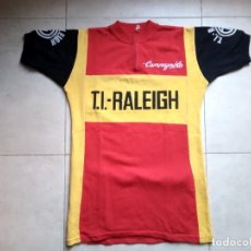 Coleccionismo deportivo: MAILLOT VINTAGE LANA CICLISMO TI RALEIGH 1976. CYCLING JERSEY WOOL. JAN RAAS, KUIPER, PETER POST. Lote 183453856