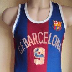 Coleccionismo deportivo: (F-191158)CAMISETA DE ALBERT VIÑAS C.F.BARCELONA AÑOS 70 - SPORT MONTMAR - MATCH WORN. Lote 183657071