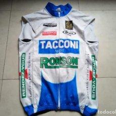 Coleccionismo deportivo: CHALECO CICLISMO TACCONI SPORT RONSON. MAILLOT. MAGLIA. JERSEY CYCLING. TALLA M. Lote 183992066
