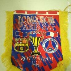 Coleccionismo deportivo: FC BARCELONA PSG FINAL PENNANT BANDERIN BUFANDA SCARF FOOTBALL FUTBOL. Lote 188480386