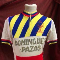 Coleccionismo deportivo: ANTIGUO MAILLOT CICLISTA DOMINGUEZ PAZOS JEREZ AÑOS 60. Lote 190089780