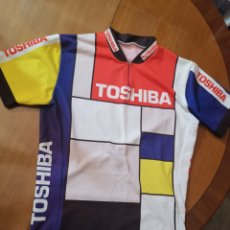 Coleccionismo deportivo: ANTIGUO MALLOT TOSHIBA 1989 LAURANT JALABERT TALLA L. Lote 190548733