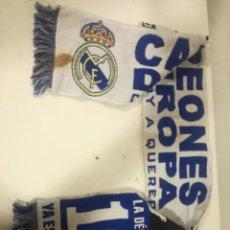Coleccionismo deportivo: REAL MADRID CAMPEONES DE EUROPA SCARF BUFANDA FOOTBALL FUTBOL SCIARPA. Lote 191632297