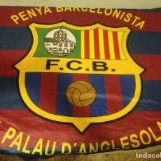 Coleccionismo deportivo: FC BARCELONA FLAG BANDERA PENYA BUFANDA SCARF FOOTBALL FUTBOL. Lote 191636790