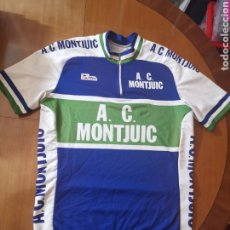 Coleccionismo deportivo: MAILLOT DE CICLISTA ANTIGUO A. C MONTJUIC BARCELONA M. Lote 192162657