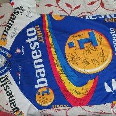 Coleccionismo deportivo: MAILLOT CICLISTA DE IBANESTO.COM FIRMADA POR TODO EL EQUIPO, 2001-2002, ARRIETA, LASTRA, LATASA, ETC. Lote 192888691