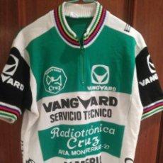 Coleccionismo deportivo: RADIOTRONICA CRUZ ALMERIA VANGUARD TEAM VINTAGE L MAILLOT CICLISMO CICLISTA CYCLING JERSEY VINTAGE. Lote 194586277