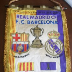 Coleccionismo deportivo: FINAL REAL MADRID FC BARCELONA 1983 PENNANT BANDERIN FUTBOL FOOTBALL . Lote 195014297