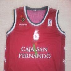 Coleccionismo deportivo: CAMISETA BALONCESTO SEVILLA BASKET CAJA SAN FERNANDO. Lote 198503356