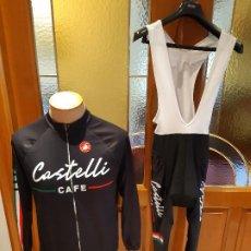 Coleccionismo deportivo: TREJE CICLISMO CASTELLI CAFE 2014. MAILLOT MANGA LARGA Y CULOTTE LARGO. TALLA L. LEER DESCRIPCIONN.. Lote 198797586