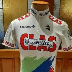 Coleccionismo deportivo: MAILLOT CICLISMO EQUIPO CLAS 1989. CENTRAL LECHERA ASTURIANA. TALLA 5. ORIGINAL ETXE-ONDO ETXEONDO. Lote 199170716