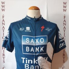 Coleccionismo deportivo: MAILLOT CICLISMO TEAM SAXOBANK TINKOFF SPORFUL UCI SHIRT TRIKOT MAGLIA. Lote 205513098