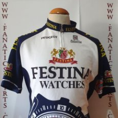 Coleccionismo deportivo: TEAM FESTINA WATCHES MAILLOT CICLISMO LOTUS SIBILLE MAGLIA CYCLING. Lote 205516088