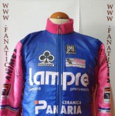 Coleccionismo deportivo: CHAQUETA CICLISMO TEAM LAMPRE PANARIA SANTINI SMS MAGLIA CYCLING. Lote 205530356