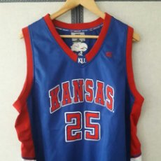 Coleccionismo deportivo: KANSAS UNIVERSITY MATCH WORN CAMISETA TALLA XL. Lote 205666331