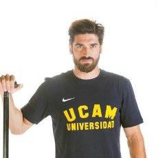Coleccionismo deportivo: JAVIER HERNANZ NOS DONA UNA CAMISETA DE LA UCAM (TALLA L). Lote 210973174