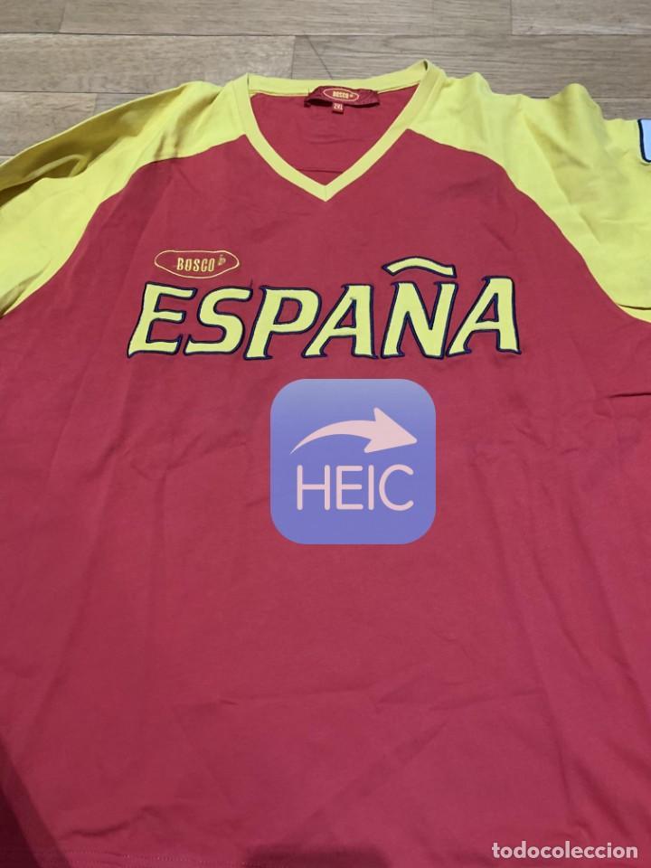 """Coleccionismo deportivo: El tirador JOSE LUIS ABAJO """"PIRRI"""" nos dona una camiseta de la Selección Española de esgrima (XXL) - Foto 2 - 210975259"""