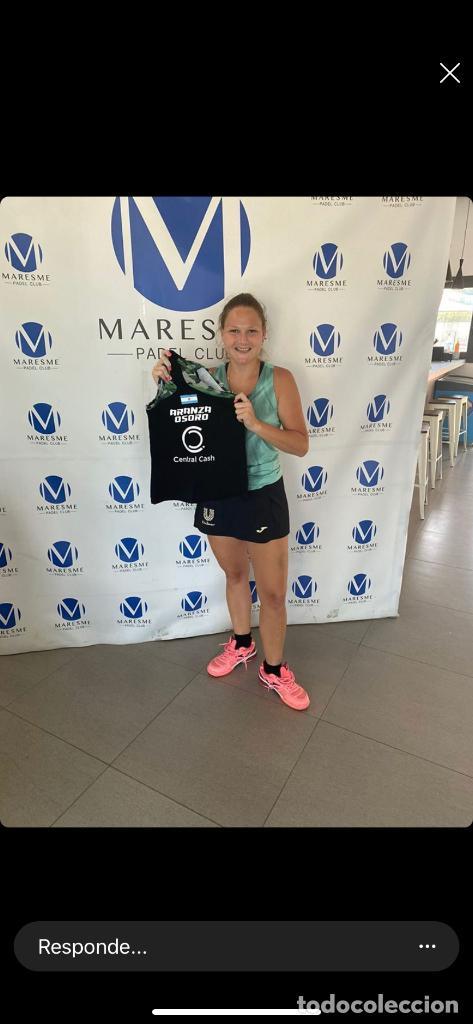 Coleccionismo deportivo: La jugadora de pádel ARANZAZU OSORO nos dona una Camiseta Oficial de pádel (Talla ) - Foto 2 - 210977772