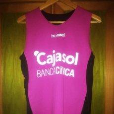 Coleccionismo deportivo: CAMISETA CAJASOL HUMMEL BALONCESTO REVERSIBLE. Lote 212624425