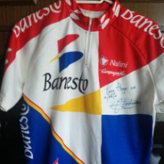 Coleccionismo deportivo: MIGUEL INDURAIN MATCH WORN BANESTO SIGNED MAILLOT TEAM CICLISMO CYCLING JERSEY LEGEND SIZE 6 XL. Lote 213049722
