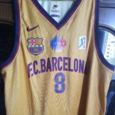 Collezionismo sportivo: FC BARCELONA LUXE MATCH WORN CENTURY BASKET BASQUET CAMISETA SHIRT XXL. Lote 217824320