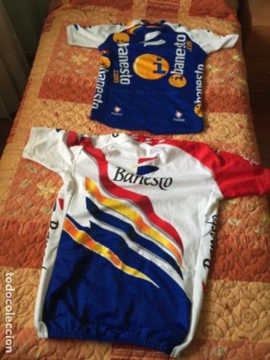 2 MAILLOT DE CICLISMO BANESTO (Coleccionismo Deportivo - Ropa y Complementos - Camisetas otros Deportes)