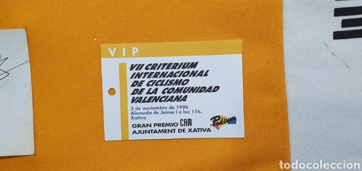 Coleccionismo deportivo: MAILLOT DEL EQUIPO CICLISTA CAM FIRMADO POR LOS HERMANOS INDURAIN, ESCARTÍN, CUBINO Y OTROS AÑO 96 - Foto 4 - 218357975