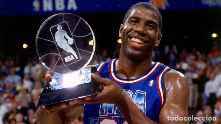 Coleccionismo deportivo: Camiseta baloncesto Earvin Magic Johnson All Star NBA 1992 - Foto 3 - 218476681